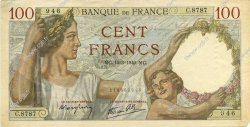 100 Francs SULLY FRANCE  1940 F.26.25 TTB+