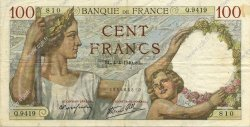 100 Francs SULLY FRANCE  1940 F.26.26 TTB