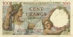 100 Francs SULLY FRANCE  1940 F.26.28 pr.TTB