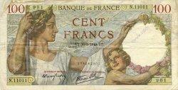 100 Francs SULLY FRANCE  1940 F.26.29 TTB
