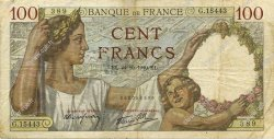 100 Francs SULLY FRANCE  1940 F.26.39 TB