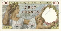 100 Francs SULLY FRANCE  1941 F.26.52 pr.SPL