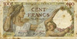 100 Francs SULLY FRANCE  1941 F.26.56 B+