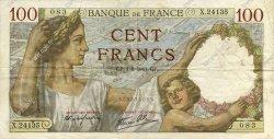 100 Francs SULLY FRANCE  1941 F.26.57 pr.TTB