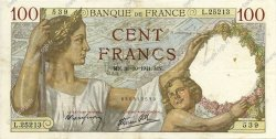 100 Francs SULLY FRANCE  1941 F.26.59 TTB+