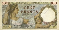 100 Francs SULLY FRANCE  1942 F.26.66 SUP