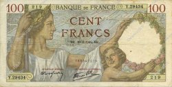 100 Francs SULLY FRANCE  1942 F.26.68 TTB