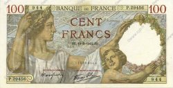 100 Francs SULLY FRANCE  1942 F.26.68 SUP+