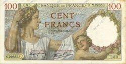100 Francs SULLY FRANCE  1942 F.26.69 TTB