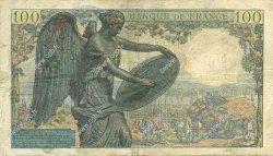 100 Francs DESCARTES FRANCE  1942 F.27.01 TB+