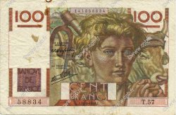 100 Francs JEUNE PAYSAN FRANCE  1946 F.28.05 pr.TTB