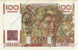 100 Francs JEUNE PAYSAN FRANCE  1949 F.28.24 SUP à SPL
