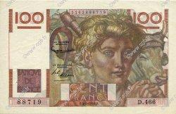 100 Francs JEUNE PAYSAN FRANCE  1952 F.28.33 SUP à SPL