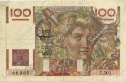 100 Francs JEUNE PAYSAN filigrane inversé FRANCE  1952 F.28bis.01 TTB+