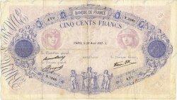 500 Francs BLEU ET ROSE modifié FRANCE  1937 F.31.02 TB
