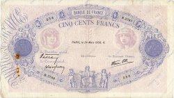 500 Francs BLEU ET ROSE modifié FRANCE  1938 F.31.06 pr.TB
