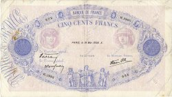 500 Francs BLEU ET ROSE modifié FRANCE  1938 F.31.11 TB