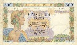 500 Francs LA PAIX FRANCE  1940 F.32.11 pr.TTB