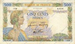 500 Francs LA PAIX FRANCE  1941 F.32.18 pr.TTB
