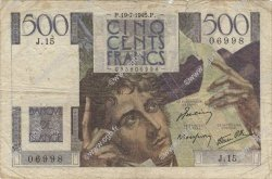 500 Francs CHATEAUBRIAND FRANCE  1945 F.34.01 B+