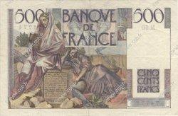 500 Francs CHATEAUBRIAND FRANCE  1945 F.34.03 TTB à SUP