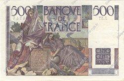 500 Francs CHATEAUBRIAND FRANCE  1945 F.34.03 SUP à SPL