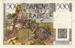 500 Francs CHATEAUBRIAND FRANCE  1952 F.34.09 TTB