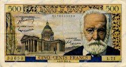 500 Francs VICTOR HUGO FRANCE  1955 F.35.05 TB