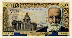 500 Francs VICTOR HUGO FRANCE  1958 F.35.10 TB