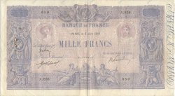 1000 Francs BLEU ET ROSE FRANCE  1914 F.36.28 TB+