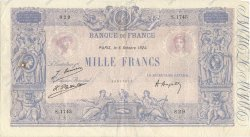 1000 Francs BLEU ET ROSE FRANCE  1924 F.36.40 TTB