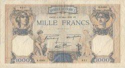 1000 Francs CÉRÈS ET MERCURE type modifié FRANCE  1939 F.38.35 TB