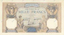1000 Francs CÉRÈS ET MERCURE type modifié FRANCE  1940 F.38.42 SUP