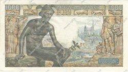 1000 Francs DÉESSE DÉMÉTER FRANCE  1942 F.40.01 pr.SUP