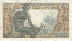 1000 Francs DÉESSE DÉMÉTER FRANCE  1942 F.40.01 TB+