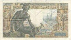 1000 Francs DÉESSE DÉMÉTER FRANCE  1942 F.40.02 pr.TTB
