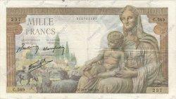 1000 Francs DÉESSE DÉMÉTER FRANCE  1942 F.40.03 TB+