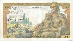1000 Francs DÉESSE DÉMÉTER FRANCE  1942 F.40.04 SUP