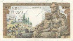 1000 Francs DÉESSE DÉMÉTER FRANCE  1942 F.40.09 TTB+