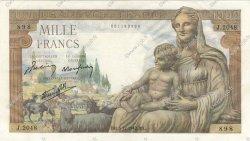 1000 Francs DÉESSE DÉMÉTER FRANCE  1942 F.40.12 SUP