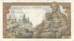 1000 Francs DÉESSE DÉMÉTER FRANCE  1942 F.40.13 TTB+