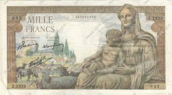 1000 Francs DÉESSE DÉMÉTER FRANCE  1942 F.40.14 TTB