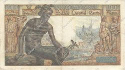 1000 Francs DÉESSE DÉMÉTER FRANCE  1942 F.40.14 TTB+