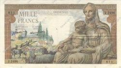 1000 Francs DÉESSE DÉMÉTER FRANCE  1943 F.40.15 SUP
