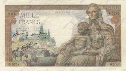1000 Francs DÉESSE DÉMÉTER FRANCE  1943 F.40.17 TTB
