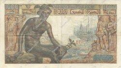 1000 Francs DÉESSE DÉMÉTER FRANCE  1943 F.40.21 TTB+