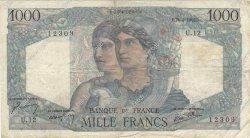1000 Francs MINERVE ET HERCULE FRANCE  1945 F.41.02 pr.TB