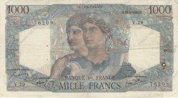 1000 Francs MINERVE ET HERCULE FRANCE  1945 F.41.03 B à TB