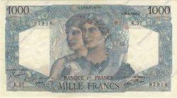 1000 Francs MINERVE ET HERCULE FRANCE  1945 F.41.05 SUP