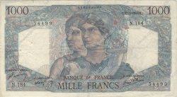 1000 Francs MINERVE ET HERCULE FRANCE  1946 F.41.10 TB